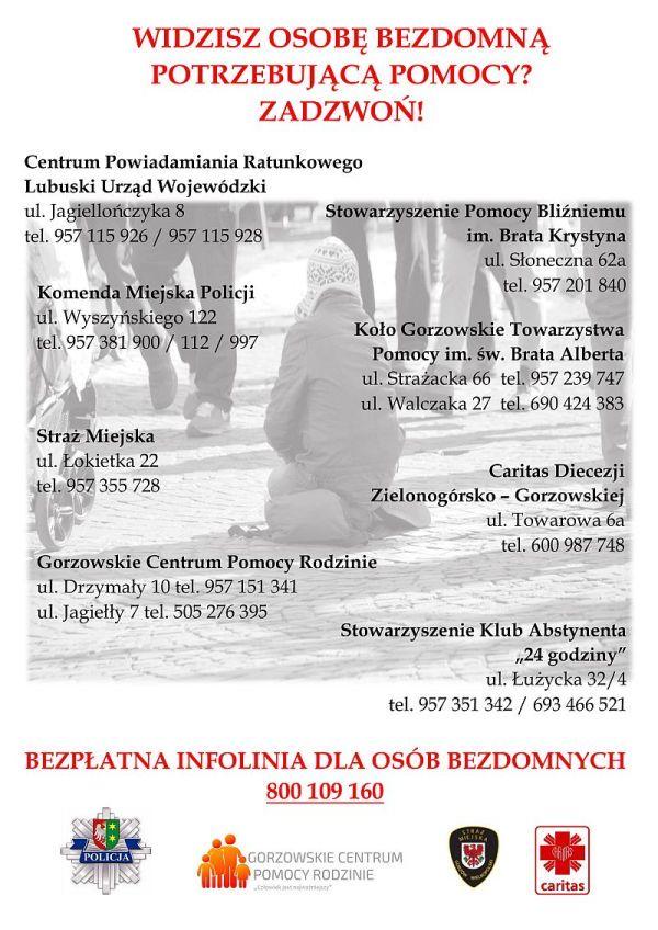 plakat bezdomność