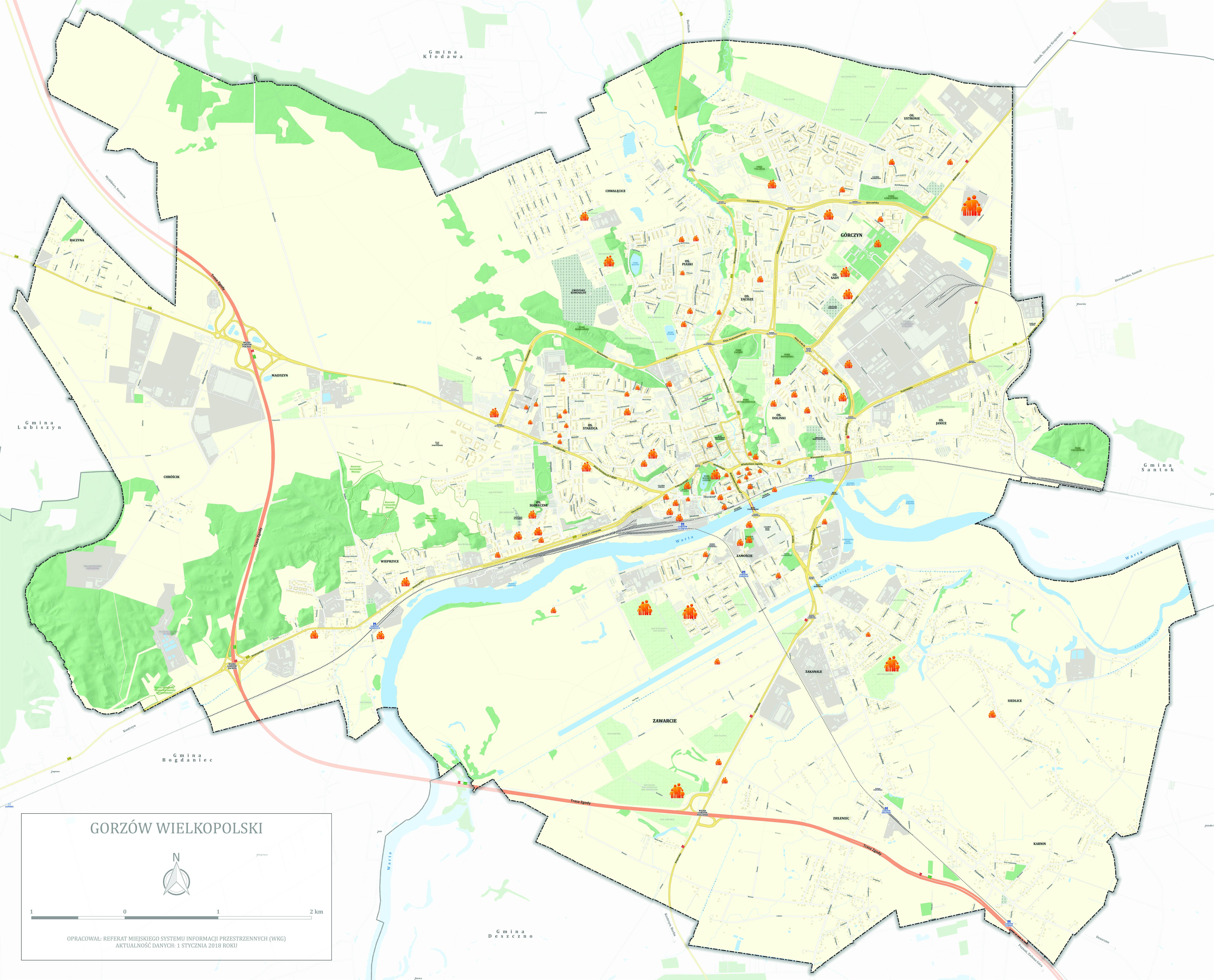 mapa przebywania osób bezdomnych