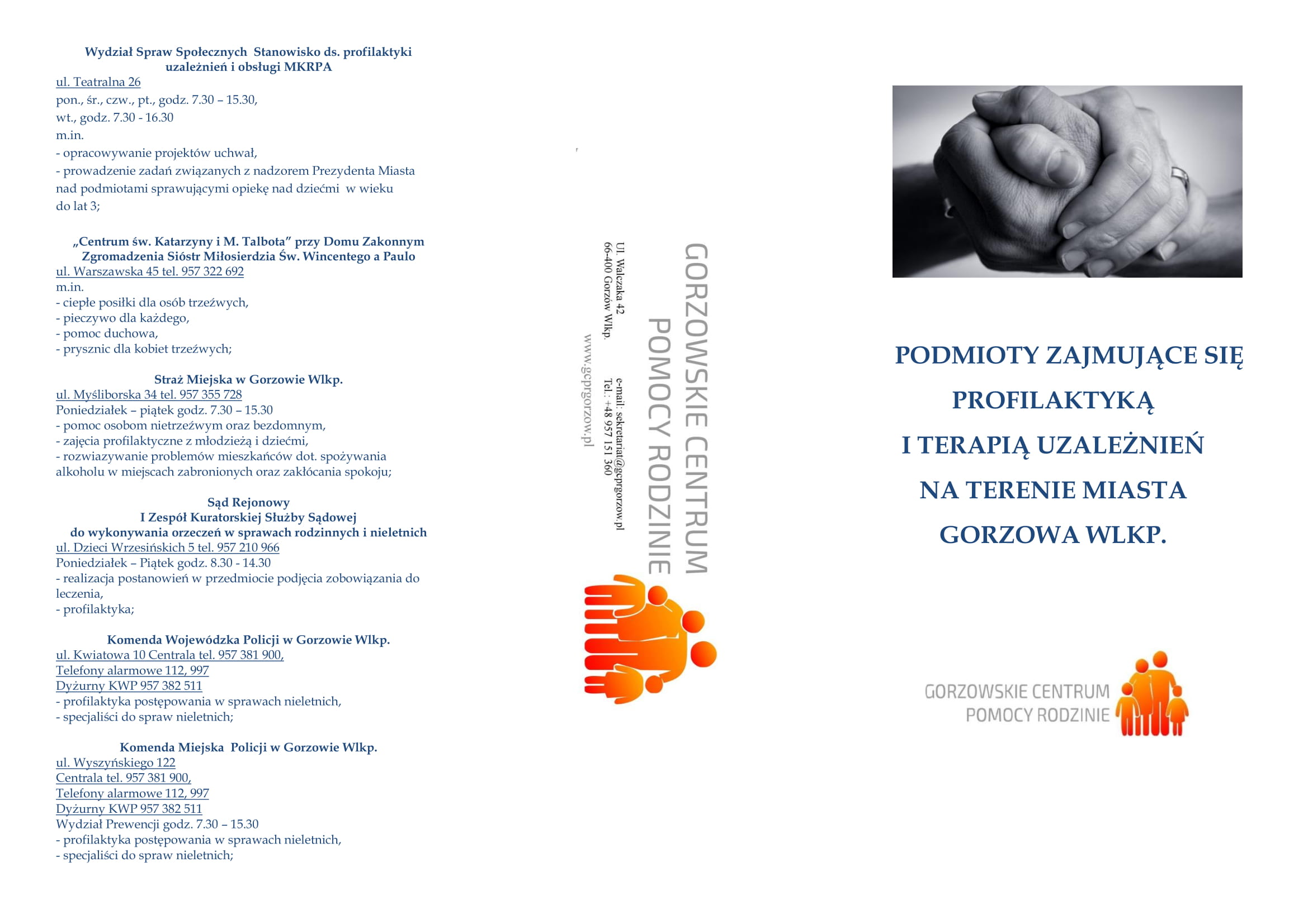 podmioty zajmujące się profilaktyką iterapią uzależnień naterenie miasta Gorzowa