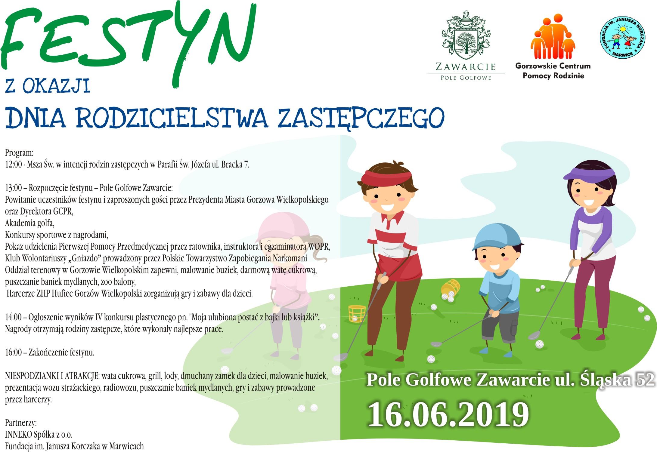 plakat festyn zokazji dnia rodzicielstwa zastępczego