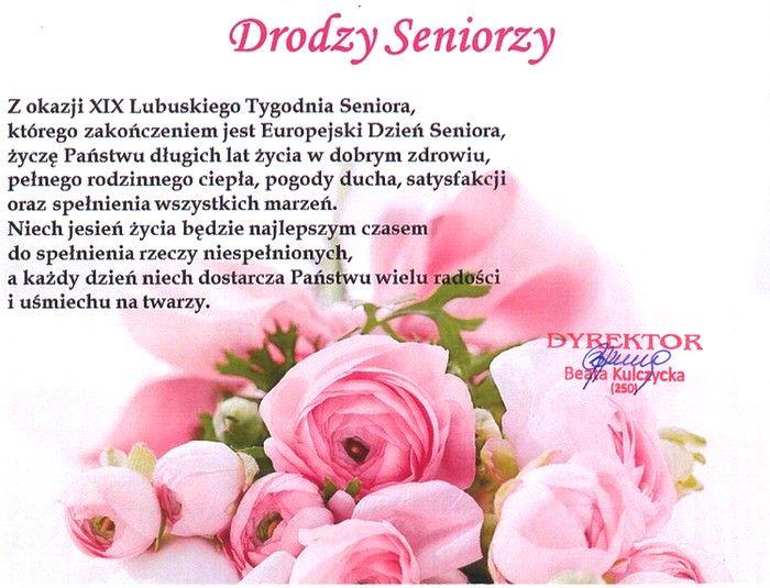życzenia dla seniorów