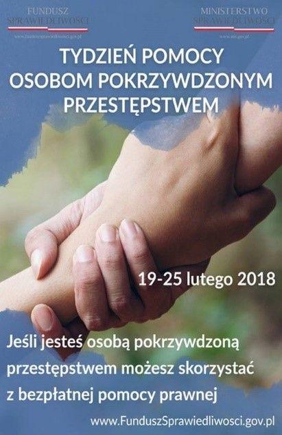 plakat tydzień pomocy osobom pokrzywdzonym przestępstwem
